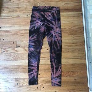 High waisted tie dye leggings